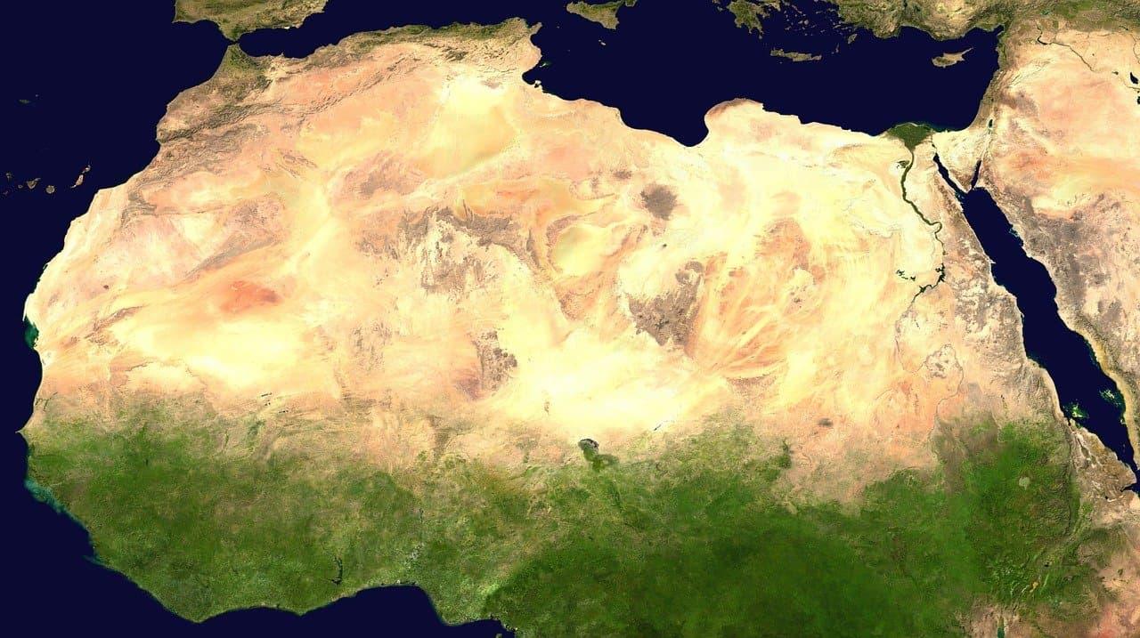 sahara, desert, satellite image